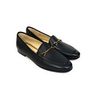 SAM EDELMAN Lucie New Black Leather Loafers 7.5